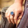 Assuna - Petite bague Apolline bleue - Look