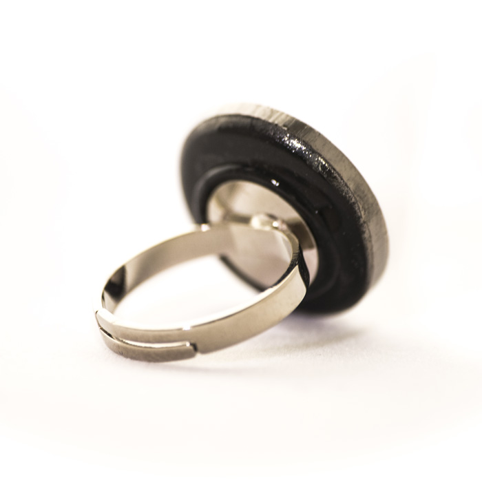 Silver coloured Apolline ring back