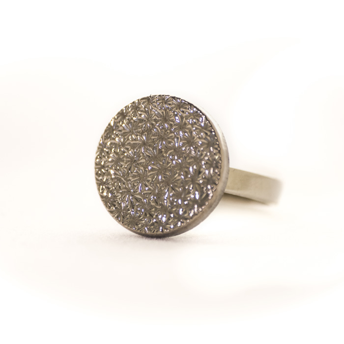 Small silver coloured Apolline ring