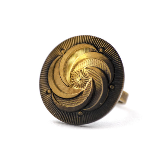 Assuna - Bague Céleste - Bague bouton ancien 1920
