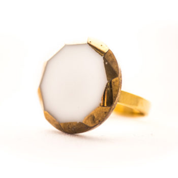 White and golden Gabrielle ring