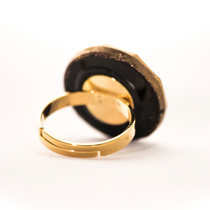 Black and golden Gabrielle ring
