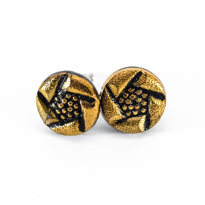 Golden studs earrings Arlette