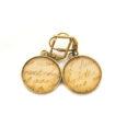 Boucles d'oreilles dorée carte postale Ecriture Marque Sepia