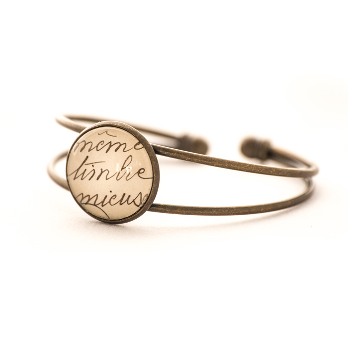 Vintage postcard bracelet Stamp Writing