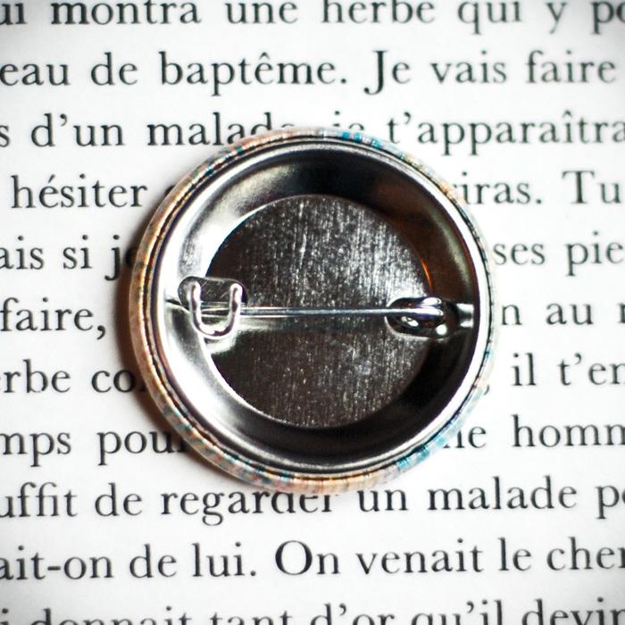Badge Nappe Jaune 2 - Assuna vintage crafts
