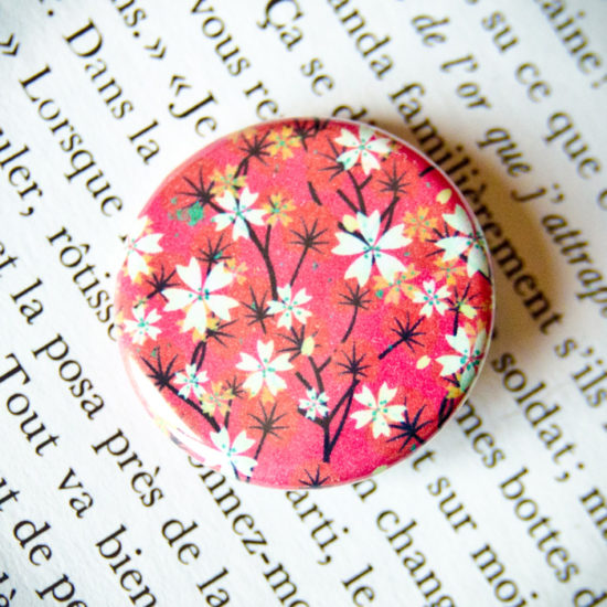 Badge Sakura Fuchsia 2