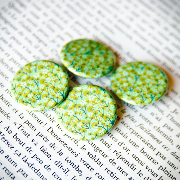 Badge Sakura Vert 1