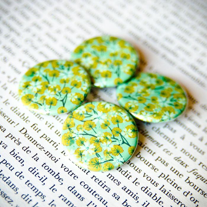 Badge Sakura Vert 2