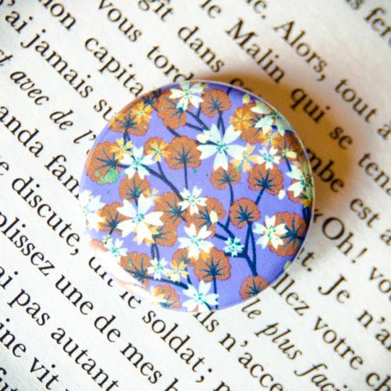 Badge Sakura Violet 2