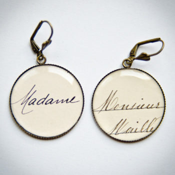 Boucles Madame Monsieur carte postale