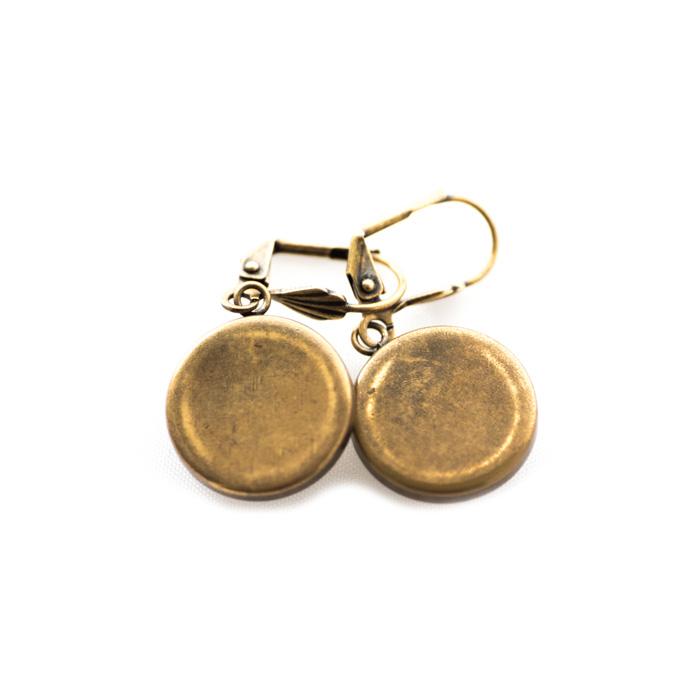 Boucles d'oreilles dorées Partitions Clé Sol Bémol et Double Croches rose