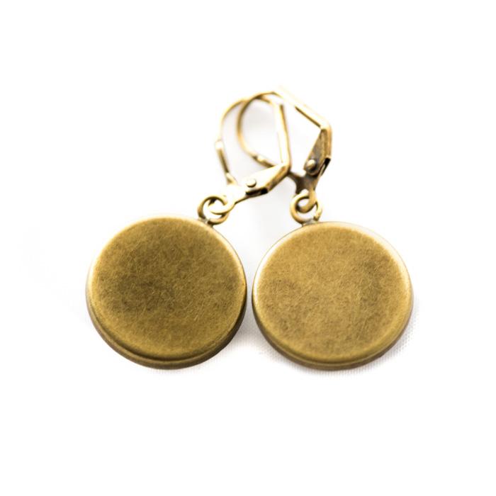 Boucles d'oreilles dorées carte postale Couple Amoureux