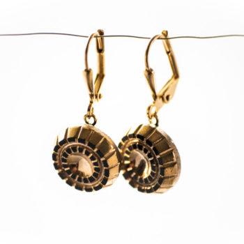 Boucles d'oreilles dormeuses Mathilde dorées