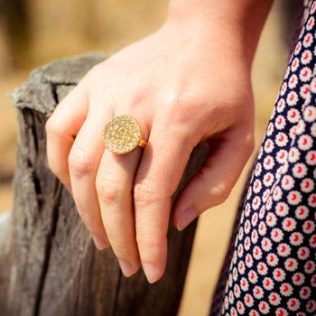 Petite bague Apolline dorée