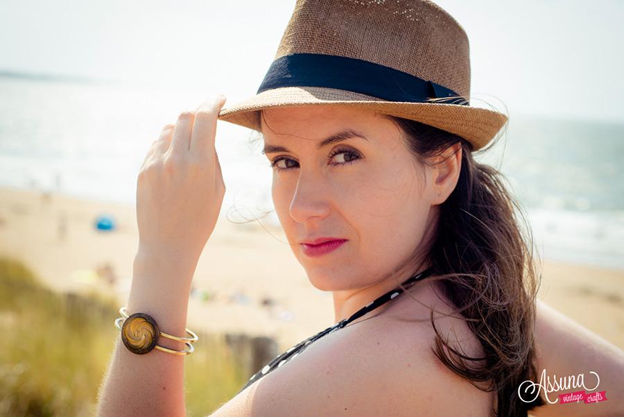 Assuna Lookbook 2017 - Bracelet bouton ancien Céleste or