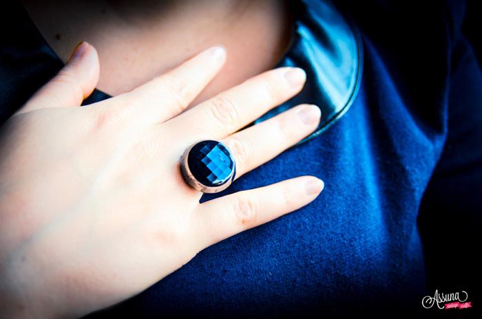 Assuna 2014/2015 – Bague bouton ancien Liliane argentée