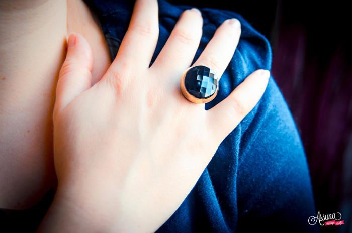 Assuna 2014/2015 – Bague bouton ancien Liliane dorée