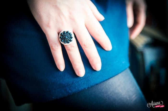 Assuna 2014/2015 – Bague bouton ancien Maryse rose