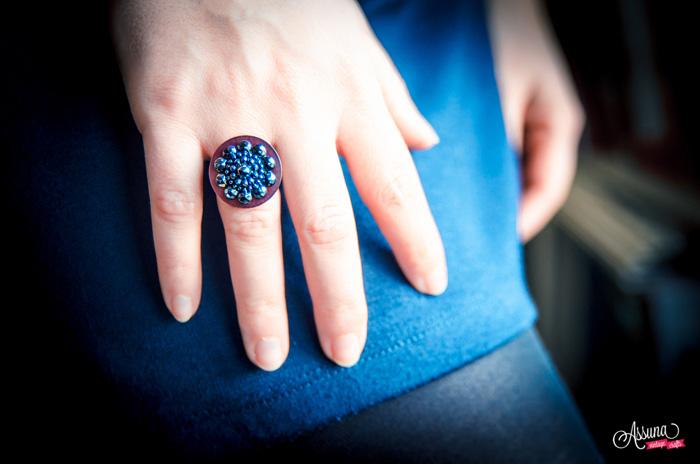 Assuna 2014/2015 – Bague bouton ancien Maryse violette