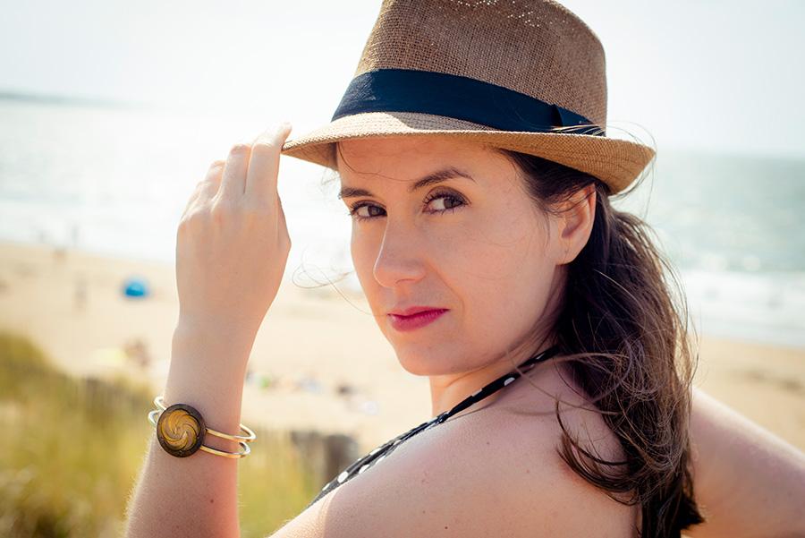 Assuna – Bracelet vintage Céleste bronze – Look