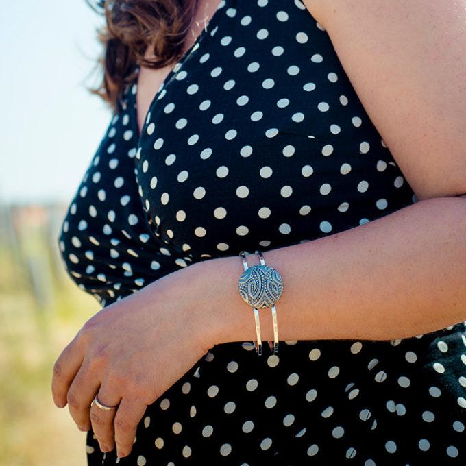 Assuna - Bracelet vintage Garance argent - Look