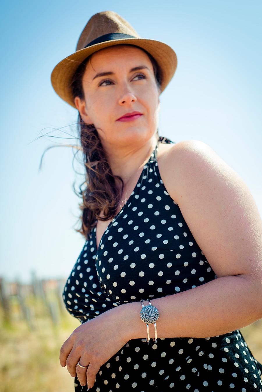 Assuna – Bracelet vintage Garance argent – Look