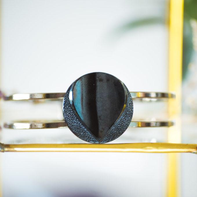 Bracelet bouton ancien manchette Azeline