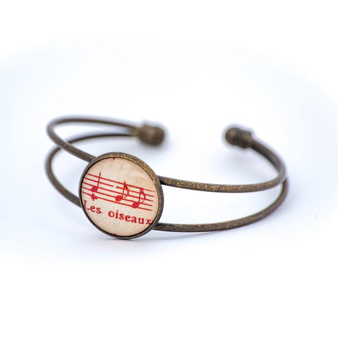 Bracelet partition rouge les oiseaux
