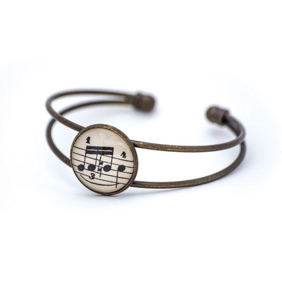 Bracelet partition musique triple croche