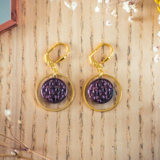 Assuna - Boucles d'oreilles petites dormeuses cercles Cécile inspiration vintage