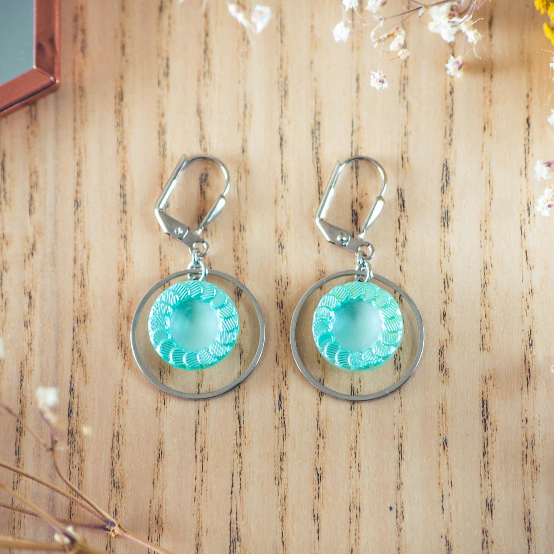 Assuna – Boucles d'oreilles petites dormeuses cercles Jeanne inspiration vintage