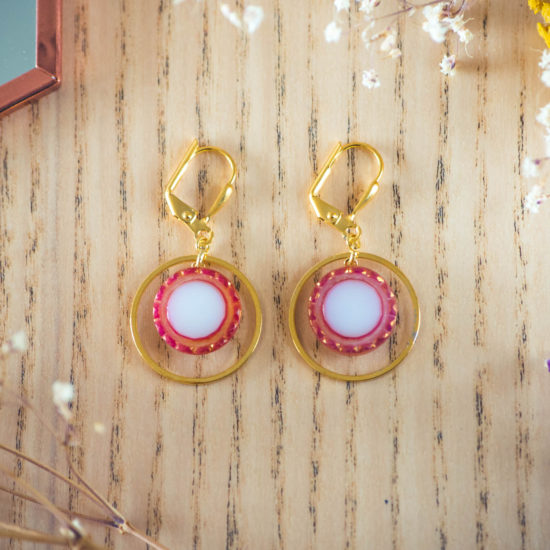 Assuna - Boucles d'oreilles petites dormeuses cercles Lise inspiration vintage