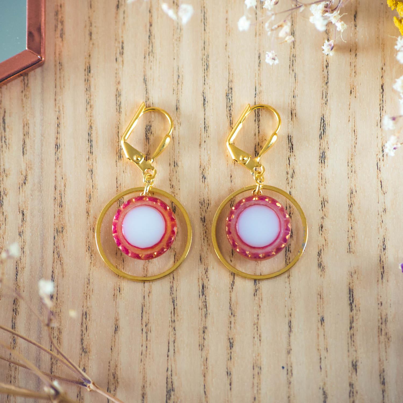Assuna – Boucles d'oreilles petites dormeuses cercles Lise inspiration vintage