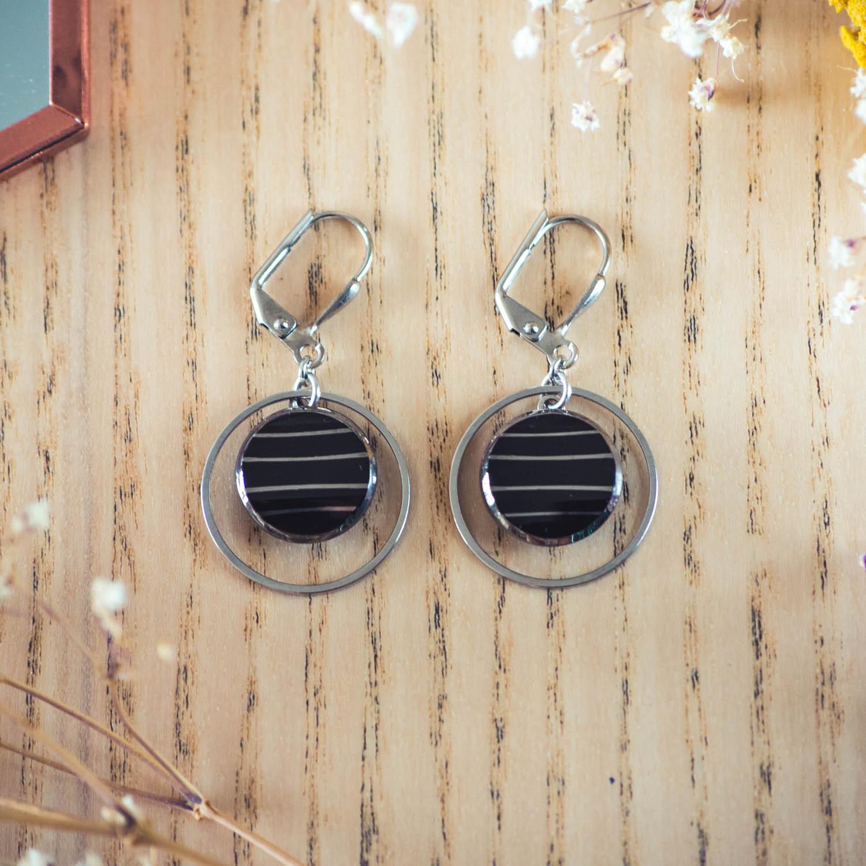 Assuna - Boucles d'oreilles petites dormeuses cercles Louise inspiration vintage