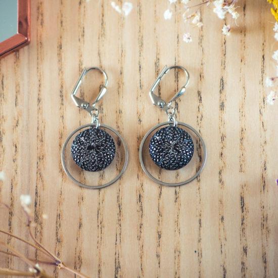 Assuna - Boucles d'oreilles petites dormeuses cercles Victoire argent inspiration vintage
