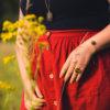 Assuna - Petite bague Constance et Bracelet simple Andrée - bouton ancien - inspiration vintage