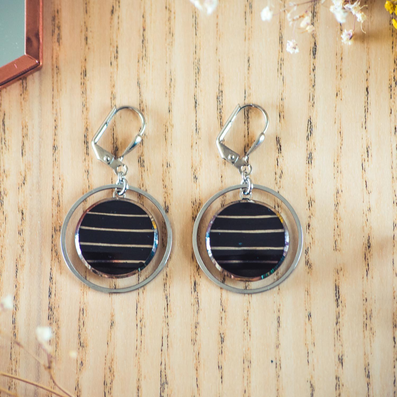 Assuna – Boucles d'oreilles grandes dormeuses cercles Louise inspiration vintage