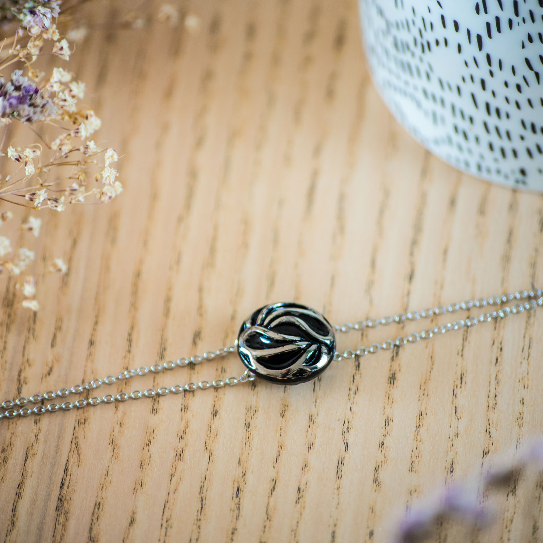 Bracelet double chaîne Andrée argent
