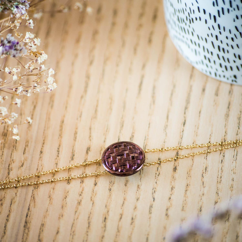 Bracelet double chaîne Cécile bronze