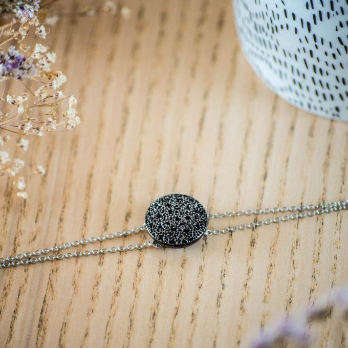 Bracelet double chaîne Esmée argent