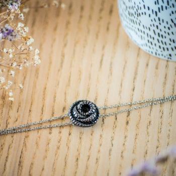 Bracelet double chaîne Faustine argent