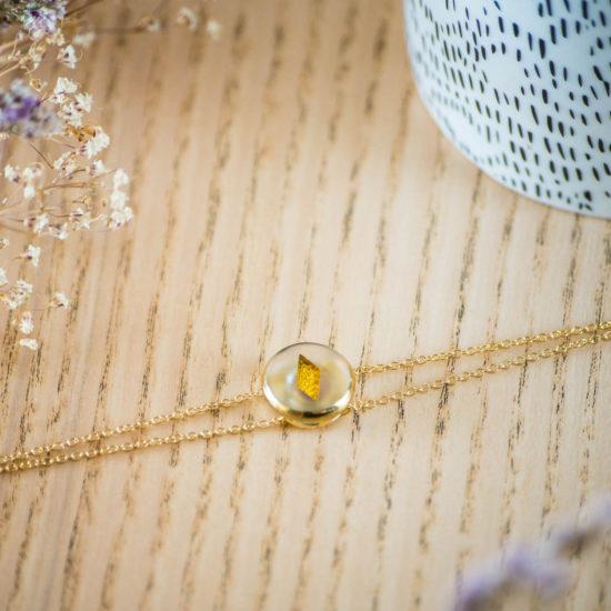 Assuna - Bracelet double chaîne Irène or - inspiration vintage