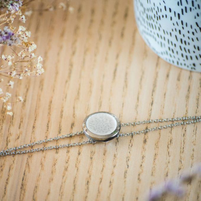 Assuna - Bracelet double chaîne Judith argent - inspiration vintage