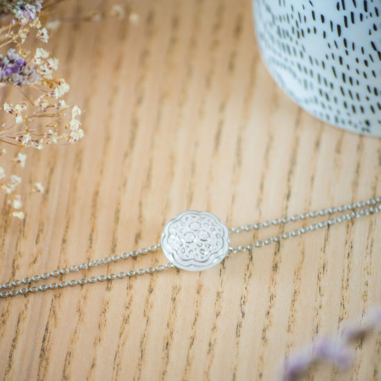 Assuna - Bracelet double chaîne Ombeline - inspiration vintage