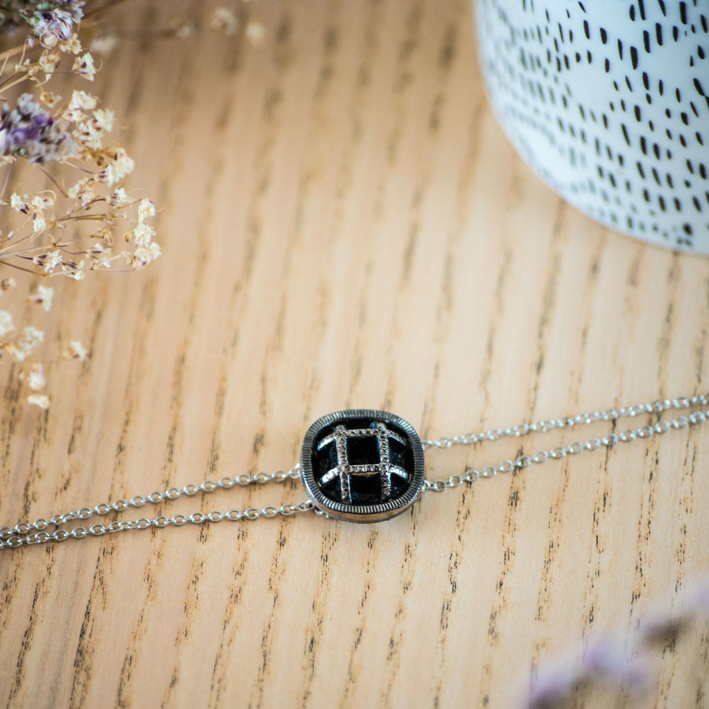 Bracelet double chaîne Paulette argent