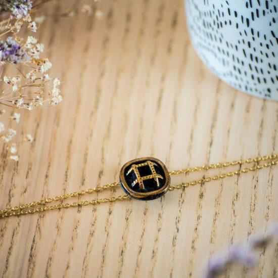 Assuna - Bracelet double chaîne Paulette or - inspiration vintage