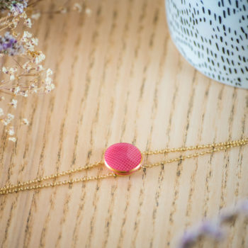 Bracelet double chaîne Rose