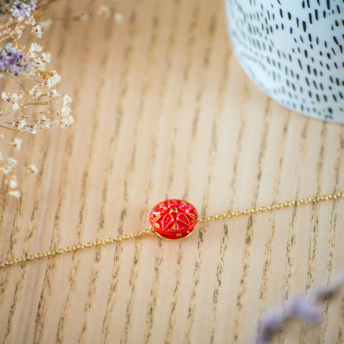 Assuna - Bracelet simple chaîne Adella - inspiration vintage