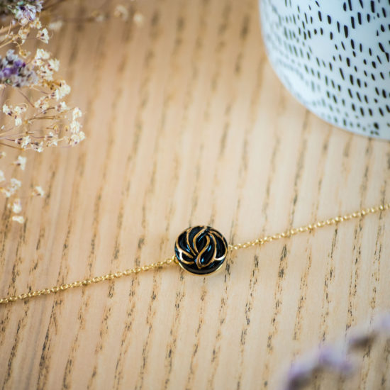 Assuna - Bracelet simple chaîne Andrée or - inspiration vintage